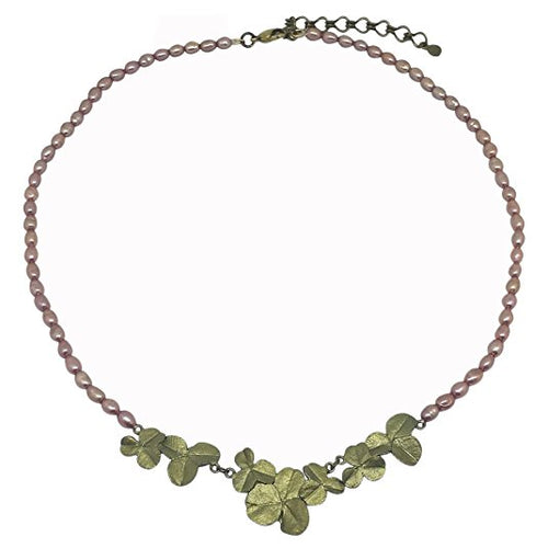 Michael Michaud Retired Pink Clover Necklace 9033 Retail price $92