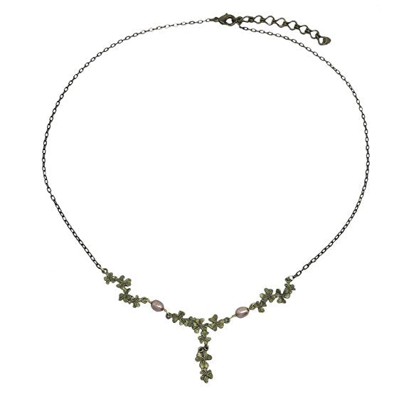 Michael Michaud Retired Pink Clover Necklace 9052 Retail price $78
