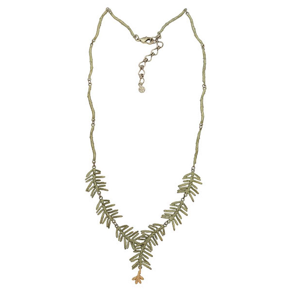 Michael Michaud Retired Petite Pine Y Necklace 9127 Retail $158
