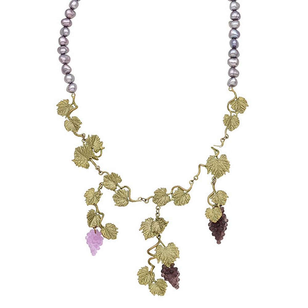 Michael Michaud Retired Grapevine & Pearl Necklace 9136 Retail $181
