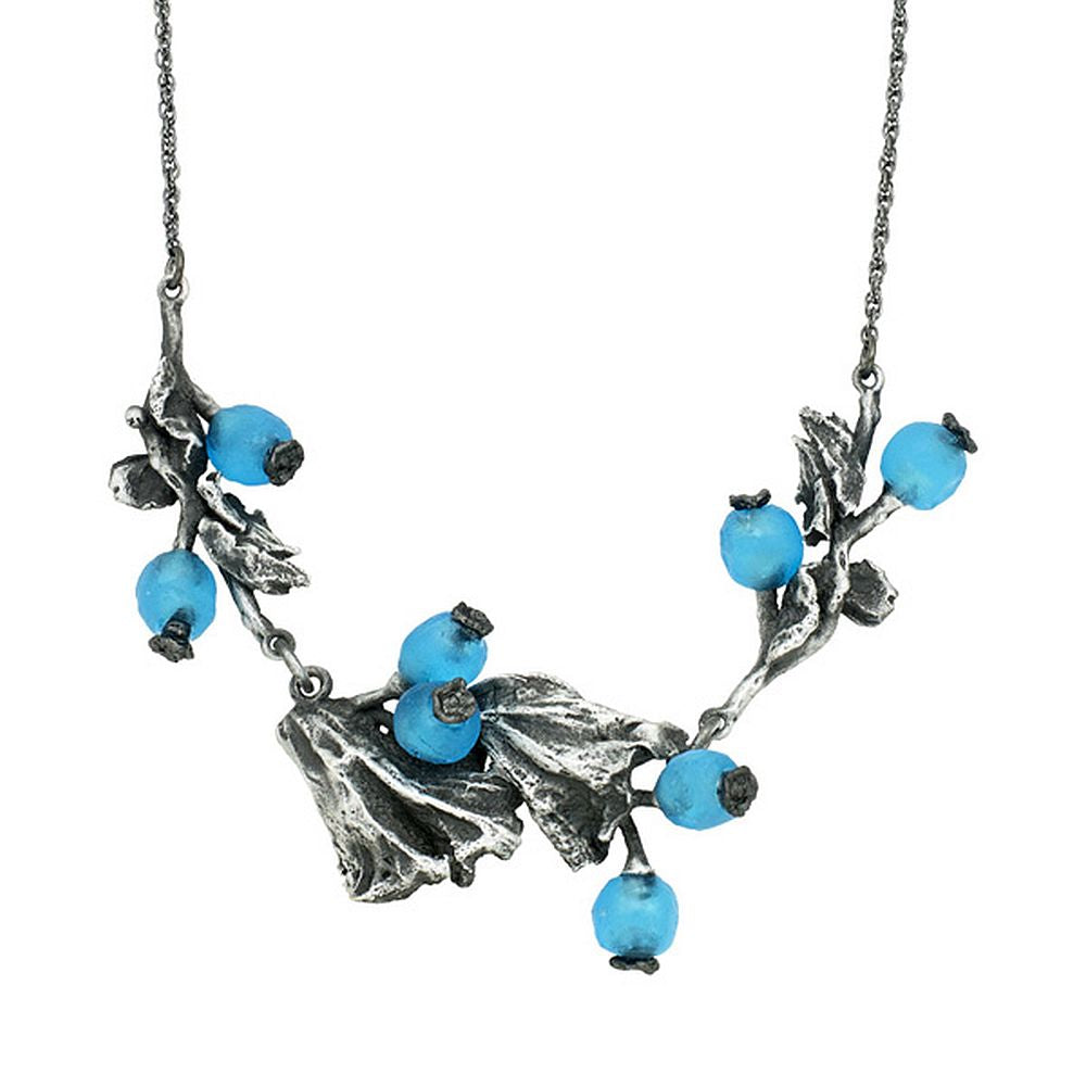 Michael Michaud Retired Winter Berry Necklace 9195 BZS Retail $112