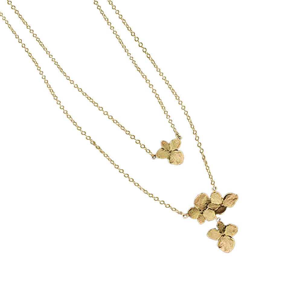 Michael Michaud Dainty Hydrangea Double Necklace 9268