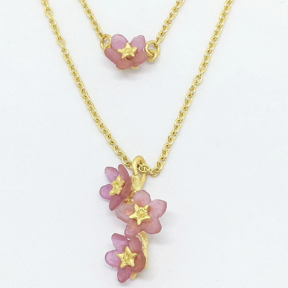 Michael Michaud for Silver Seasons Pinkie Winkie Double Necklace 9272