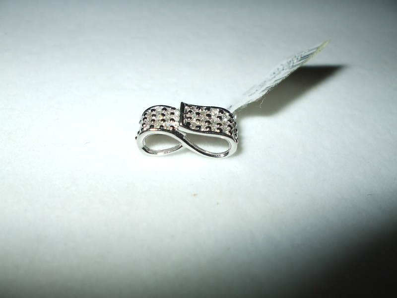 Genuine Diamond Pendant 14K white gold .41 cttw NWT $720