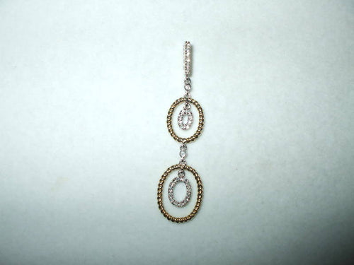 Genuine Diamond Pendant 14K two-tone gold .11 cttw NWT $650