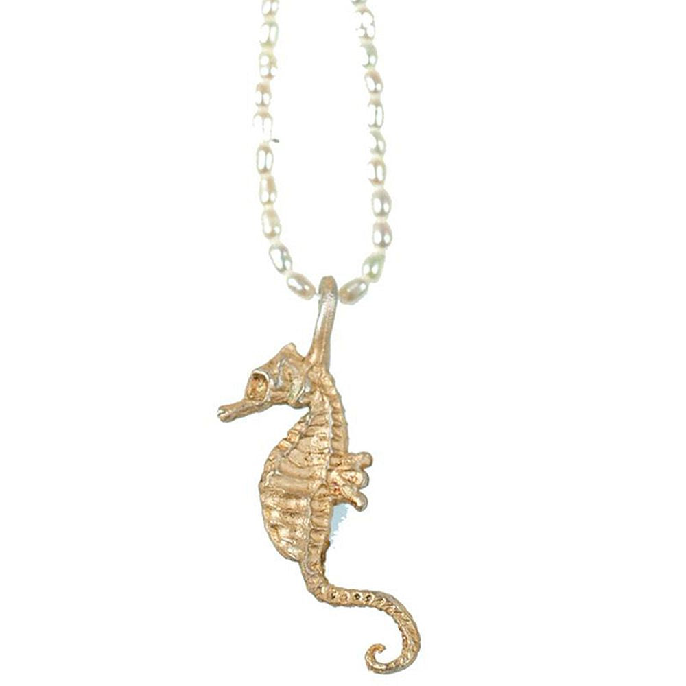Michael Michaud Silver Seasons Retired Sea Horses Necklace DF7037 Retail $101