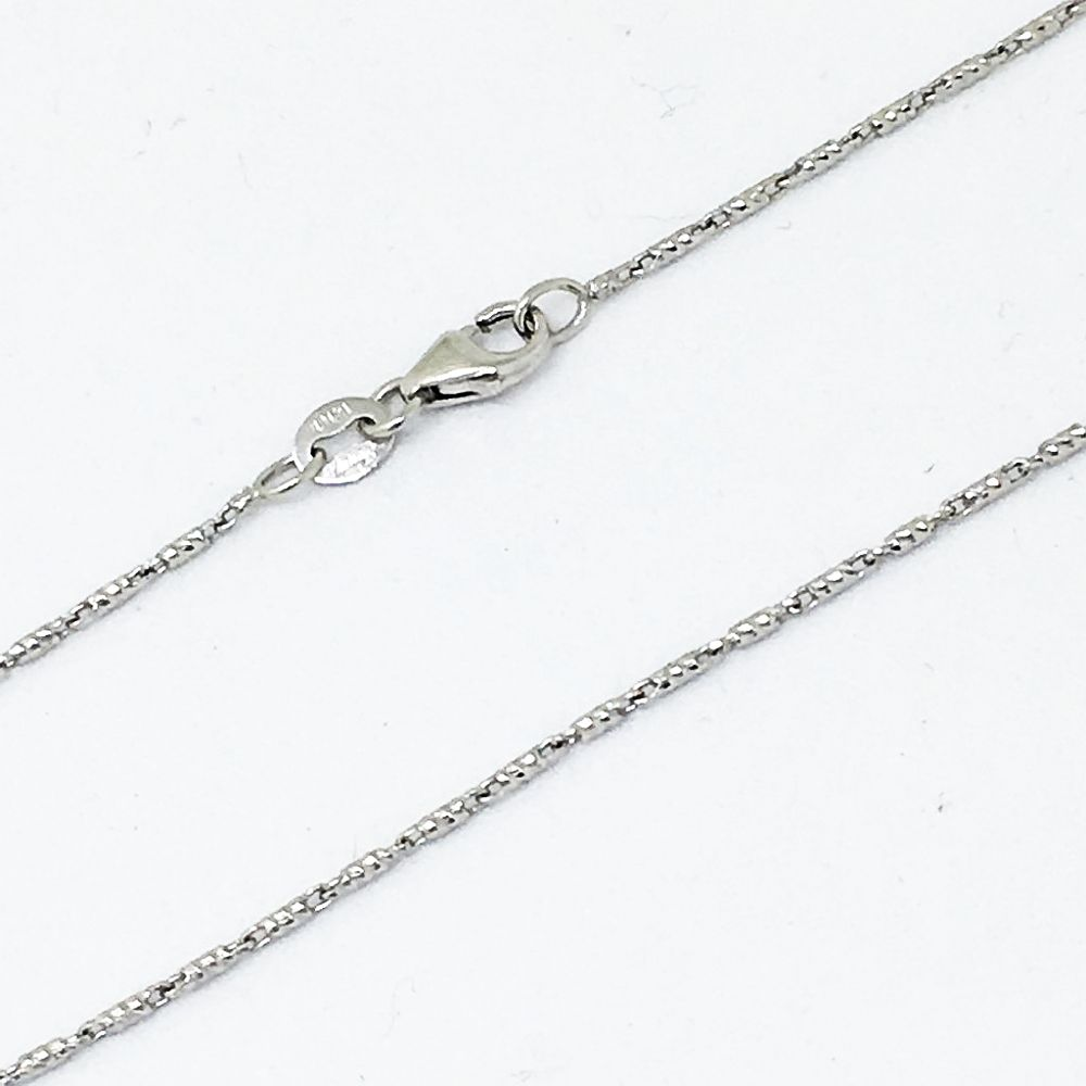 22 inch 14K White Gold Raso Chain with lobster clasp 4.0 gr. 1.10 mm $597