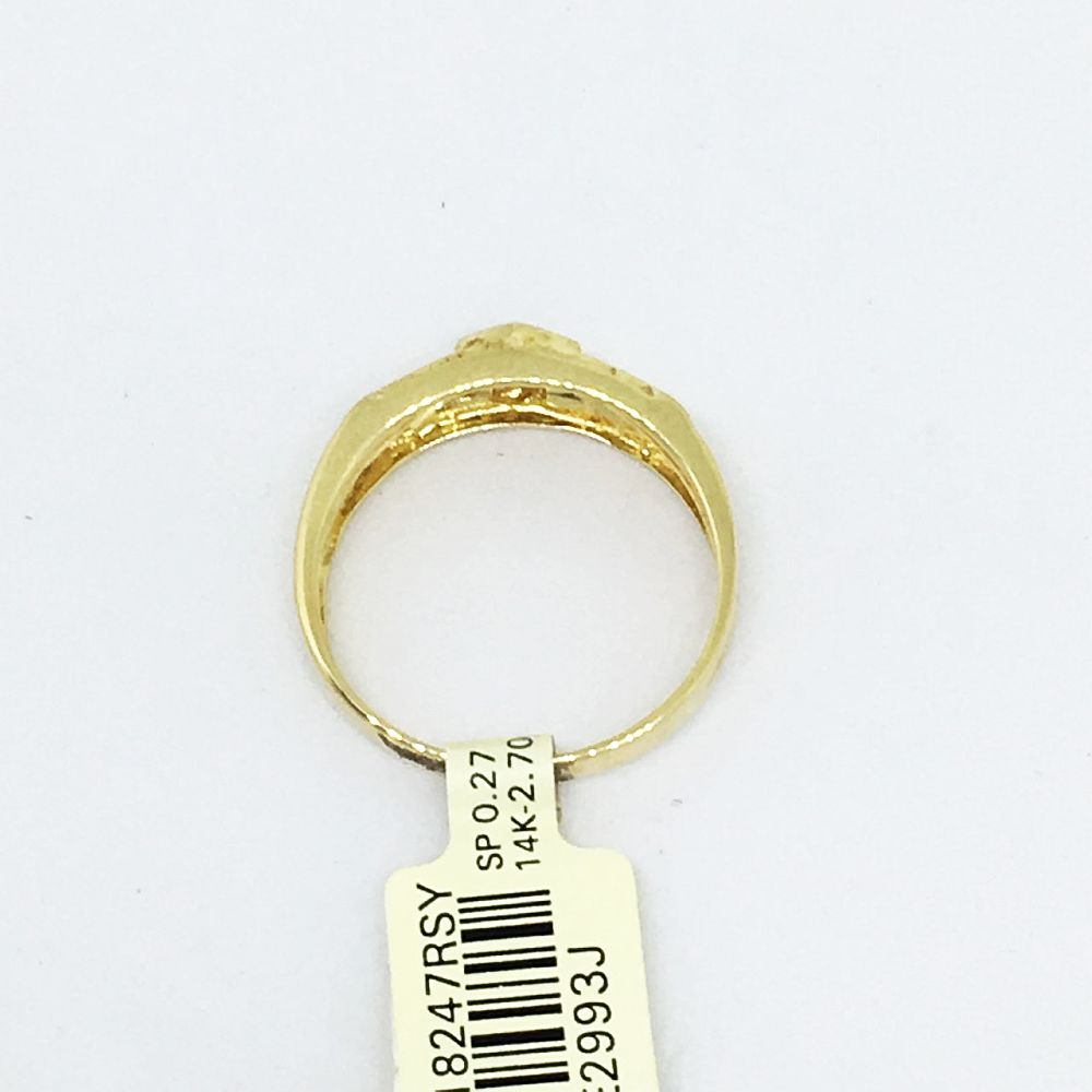 14K Yellow Gold & Genuine Sapphire Ring $900 NWT