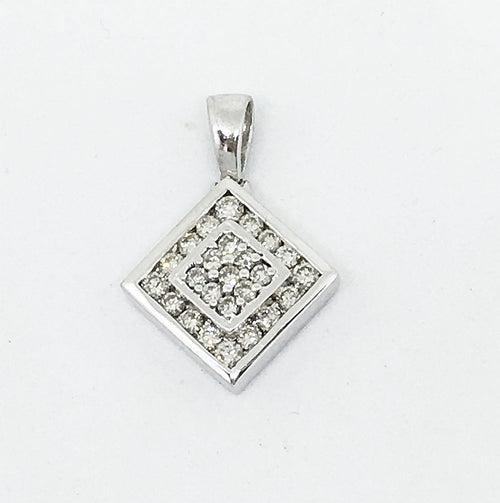 14K White Gold & Diamond Pendant NWT $1145