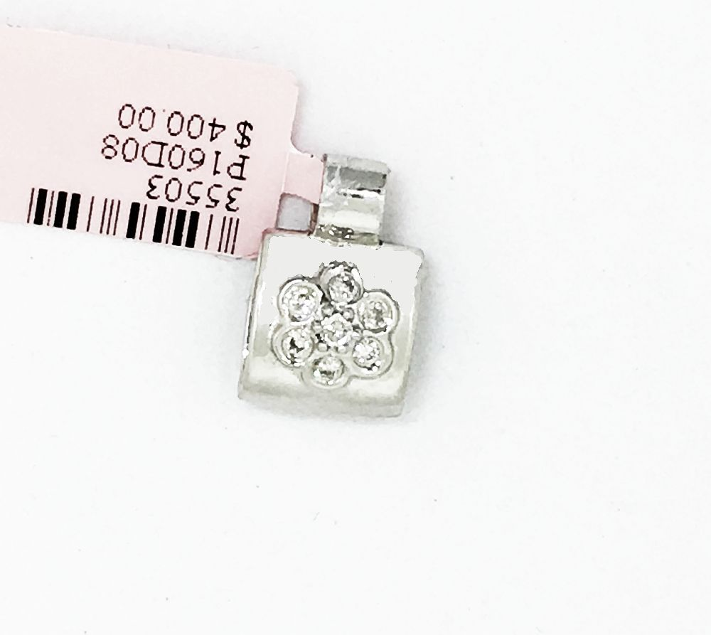 14K White Gold Diamond Pendant NWT $400