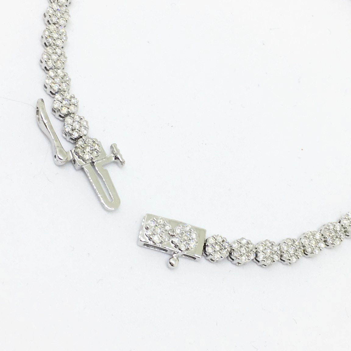 Genuine 2.0 cttw. Diamond & 14K white gold Tennis Bracelet 7 inches NWT $4995