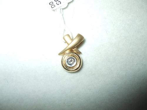 Genuine Diamond Pendant 14K yellow gold NWT $260
