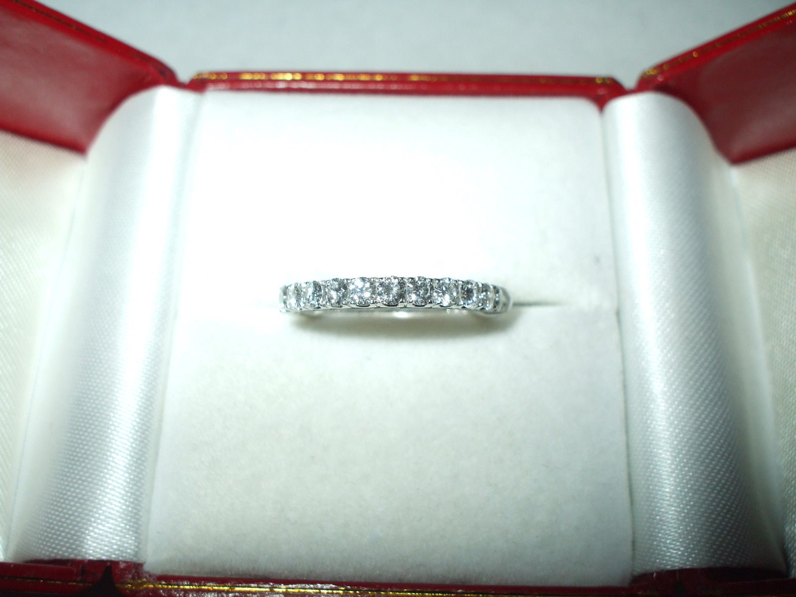 Genuine .50 cttw Diamond Ring 18K White gold $2780 NWT