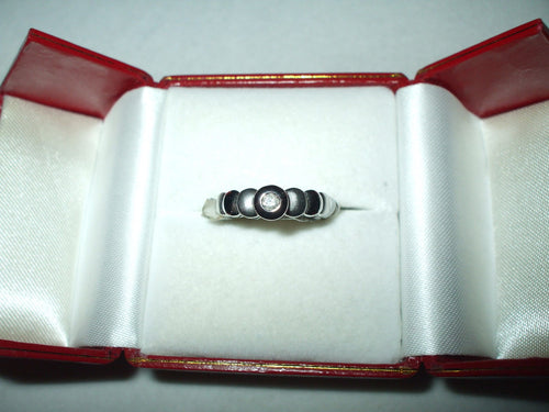 Genuine Diamond Ring 14K White gold $440
