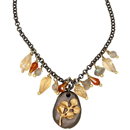 Michael Michaud Second Nature Retired Pebble Mutli Bead Necklace N203 Retail Price $69