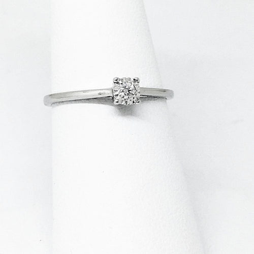 14K White Gold and Genuine Diamond Ring  $245 NWT Size 7