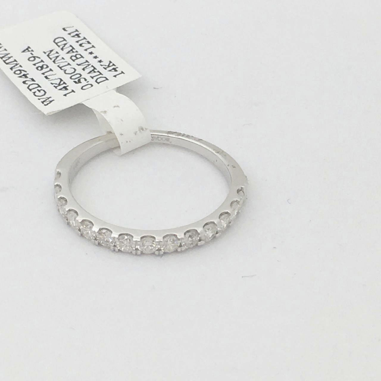 14K White Gold & Genuine Diamond Ring $1245 NWT Size 7