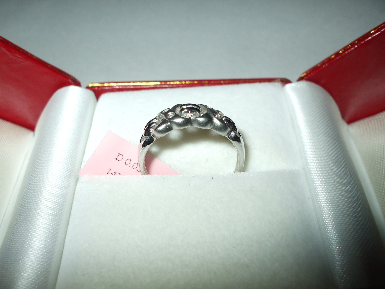 Genuine Diamond Ring 14K White gold $460