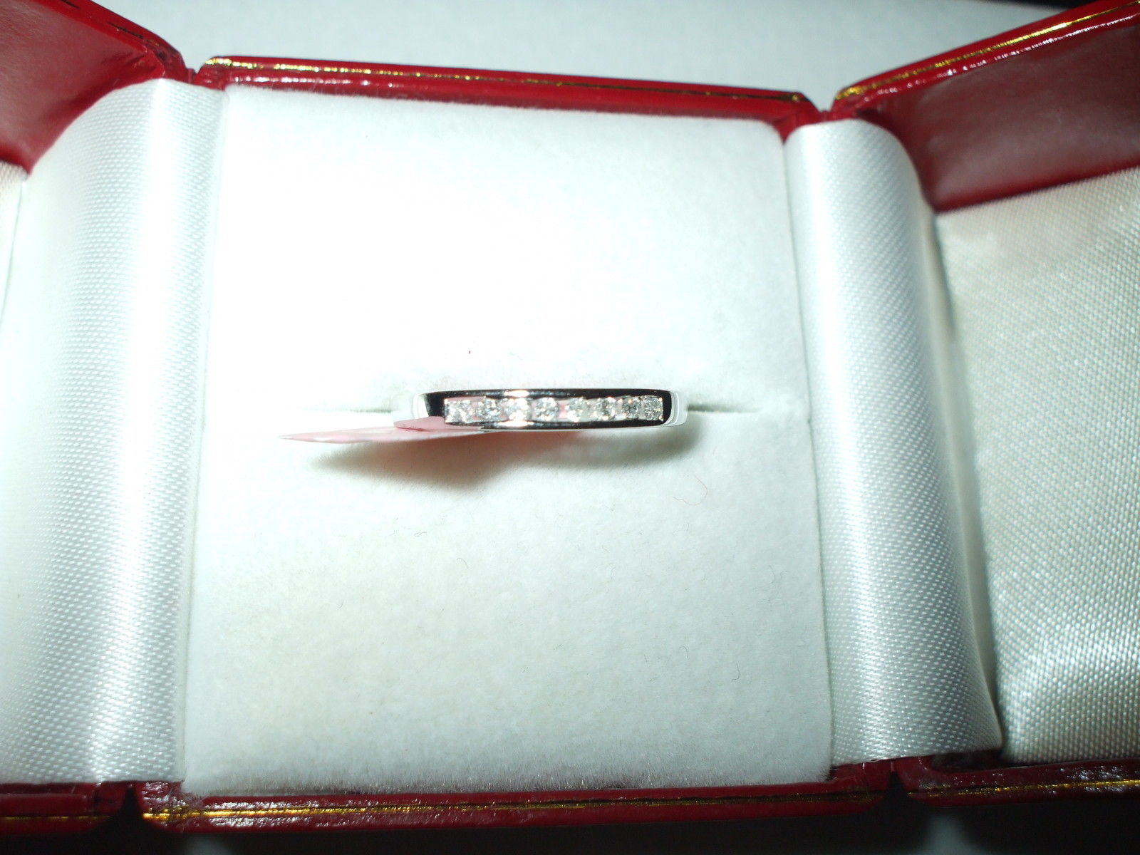 Genuine Diamond Ring / Band .13 cttw 14K White gold $720