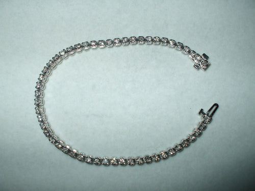 Genuine 3 cttw. Diamond 14K white gold Tennis Bracelet 7 inches $4700 NWT
