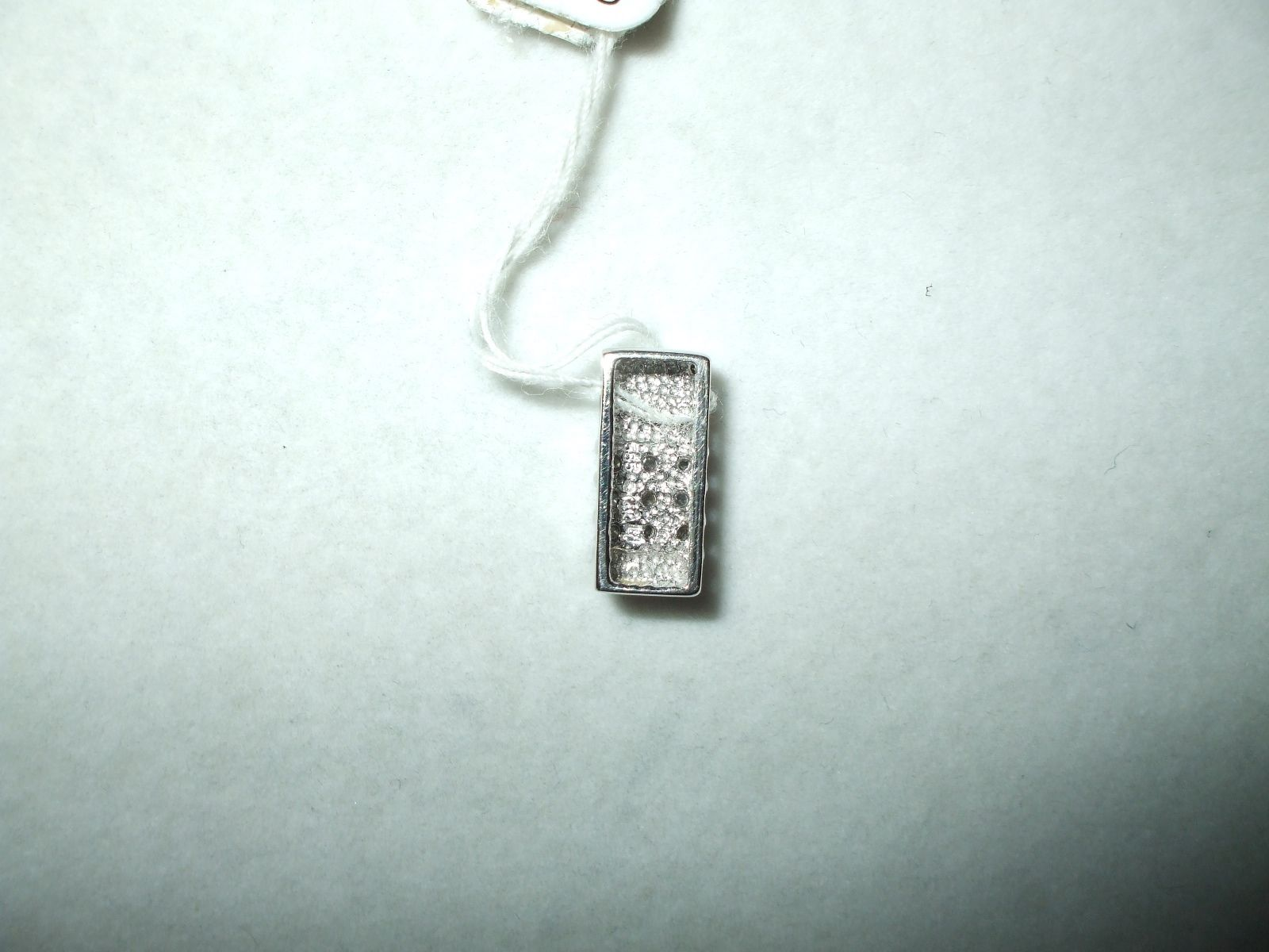 Genuine .24 ct Diamond Pendant 14K white gold New $480