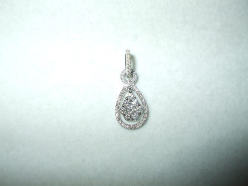 Genuine Diamond Pendant 18K white gold NWT $3450