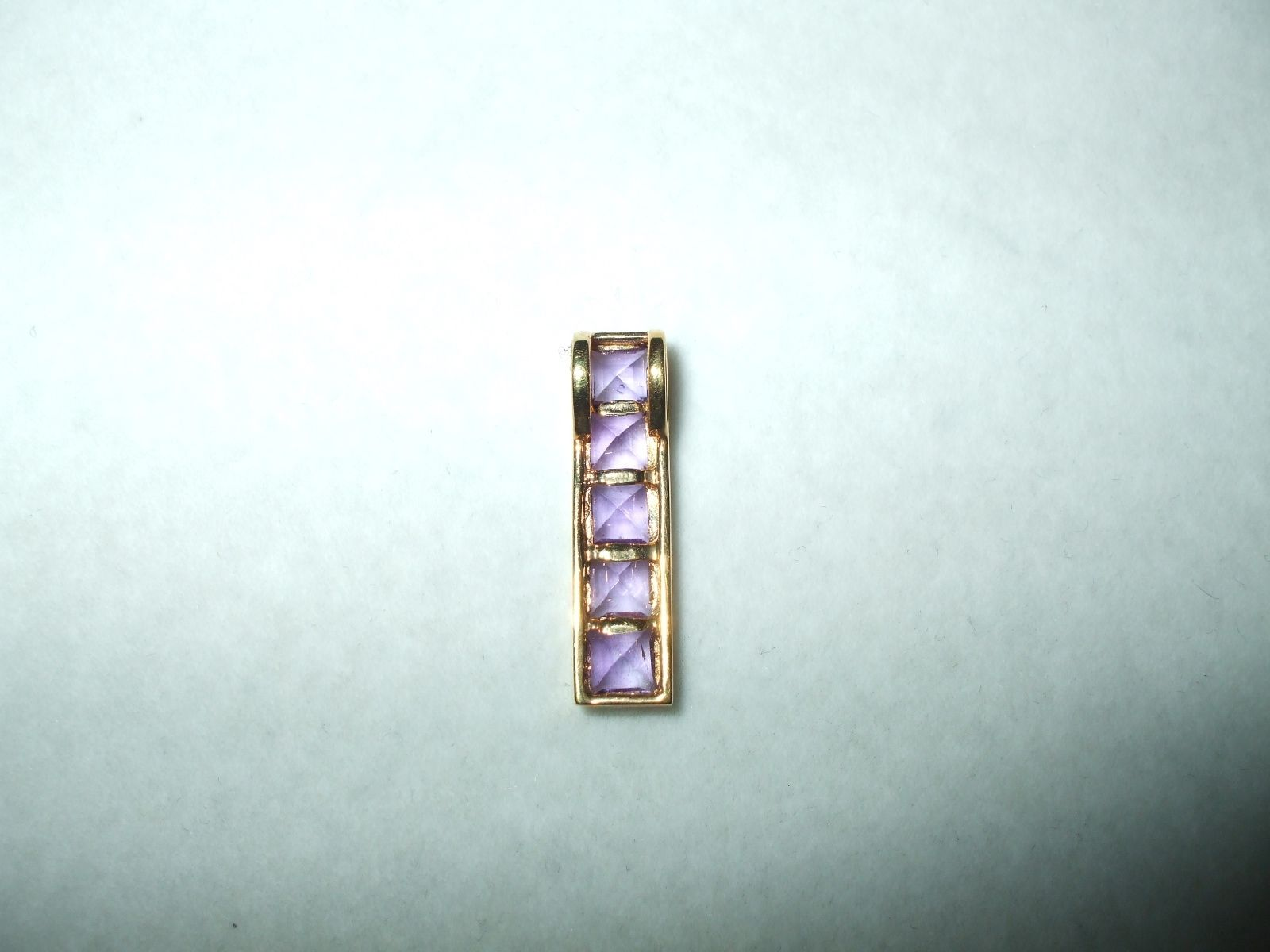 Genuine 1.64 cttw. Amethyst Pendant 14K yellow gold NWT $320