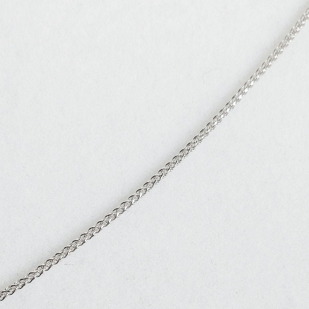 18 inch 14K white gold round wheat chain with lobster clasp 2.2 gr .94 mm $290