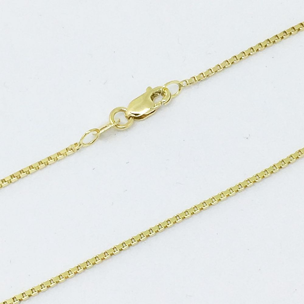 18 inch 14K Yellow Gold Box Chain with lobster clasp 2.8 grams $400