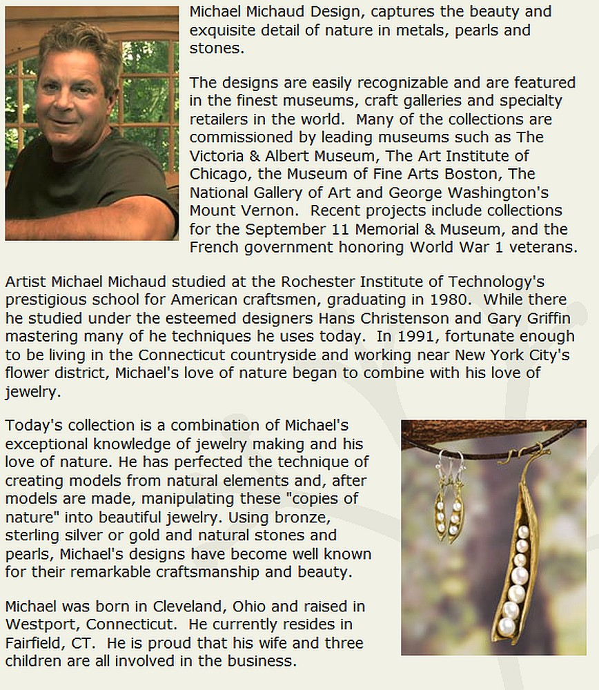 Michael Michaud Retired Gingko Shower Necklace 8168 Retail Price $128