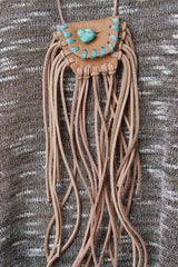 Fringed Mini Pouch Necklace