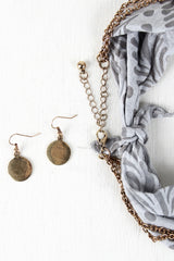 Jointed Disk Necklace And Frond Bandana Set