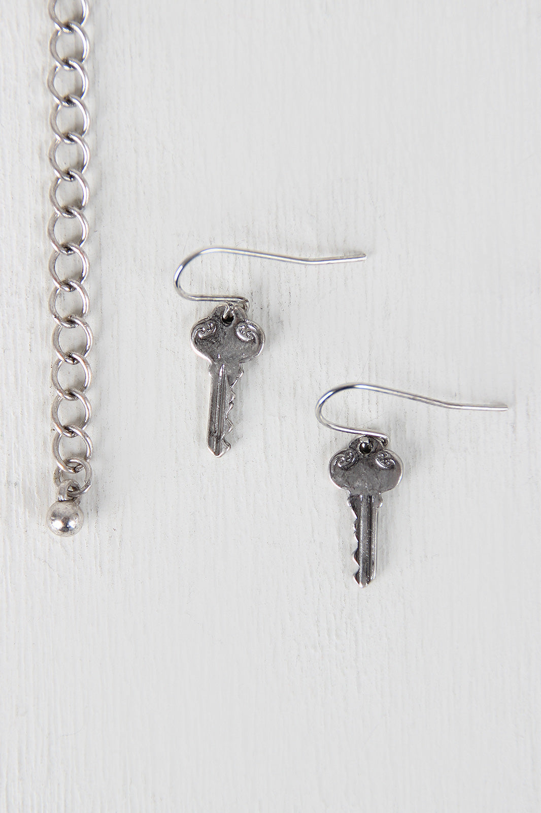 Hope Key Pendant Necklace Set