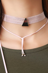 Simple Style Layered Bolo Choker Necklace
