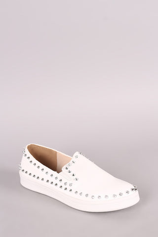 Studded Spike Slip On Sneaker
