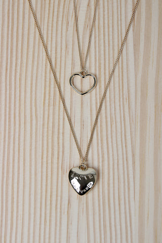 Twice The Love Necklace Set