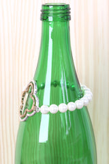 Two Tone Clover Pearl Bracelet