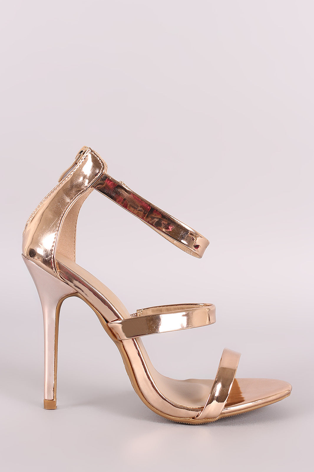 Patent Triple Bands Stiletto Heel