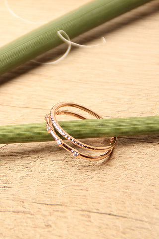 Thin Bands Micro Rhinestone Ring