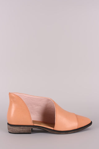 Bamboo Almond Toe Oxford Flat