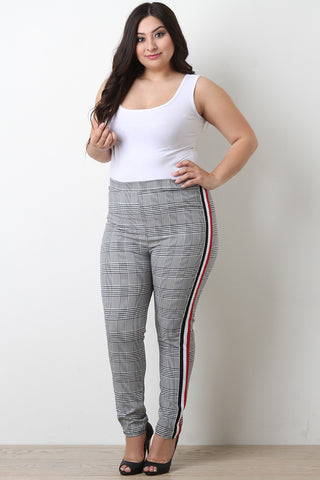 Striped Sides Glen Plaid Tailor Pants