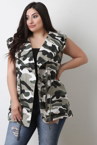 Hooded Camouflage Utility Vest