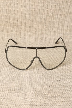 Clear Lens Shield Glasses