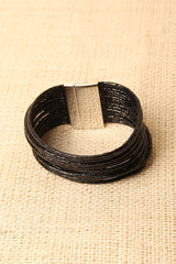 Vegan Leather Strappy Cuff Bracelet