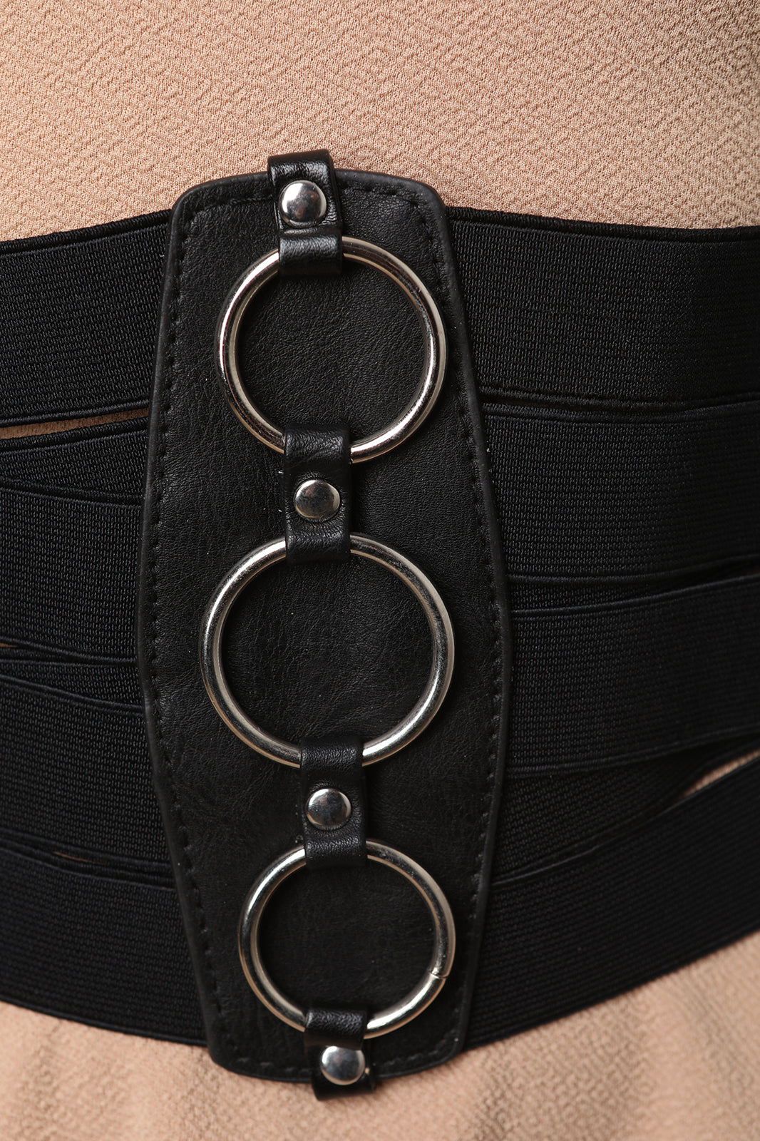Ringlet Lattice Wide Elastic Corset Belt