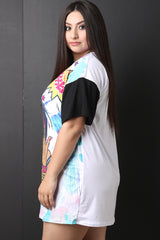 Blessed Pop Art T-Shirt Dress