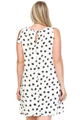 Women's Plus Size Polka Dot Double Layer Dress