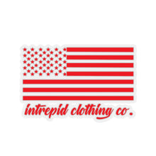 ICC Flag red Kiss-Cut Stickers