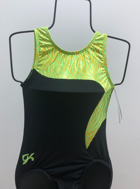 Green & Gold Zebra Leotard