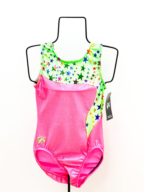 Green and Pink Stars Leotard